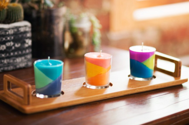 DIY-Colorblock-Candles